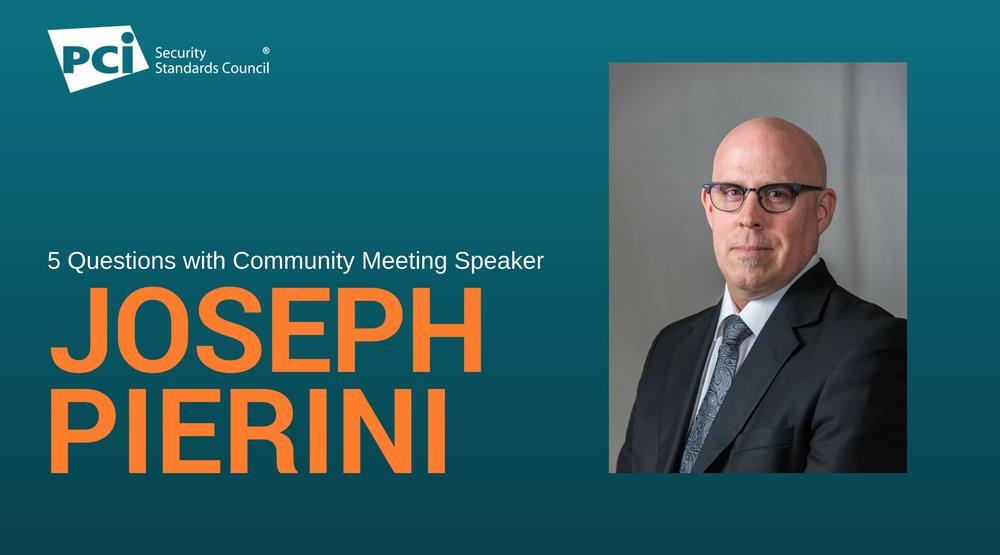 5 Questions with Community Meeting Speaker Joseph Pierini - Featured Image