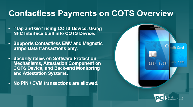 Just Published: PCI Contactless Payments on COTS